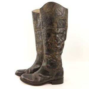 Steven REINS Boots Distressed Crackle Leather 10